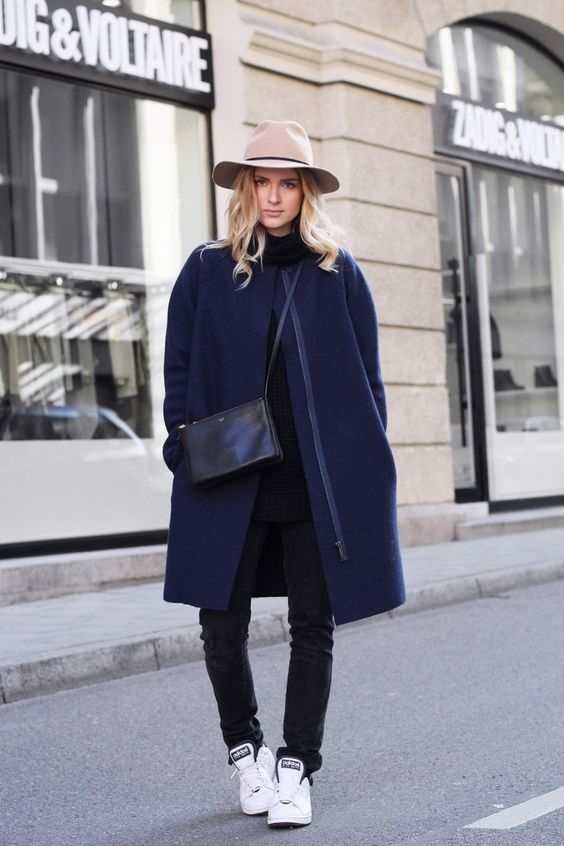 Feodora, blue coat, Adidas Superstar's