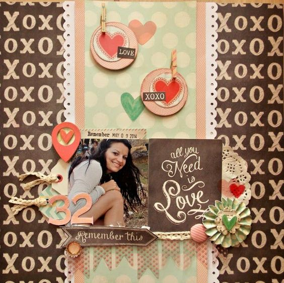 My creative hobby place: My birthday layout...