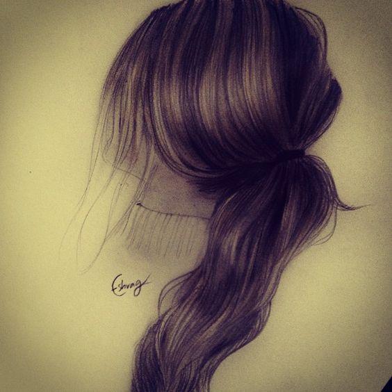 Drawing hair by: @eshrag_sr Eshrag Sami