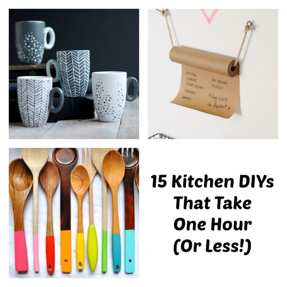 Best 15 Kitchen Diys That Take One Hour Or Less Kitchen Tips 640 x 480