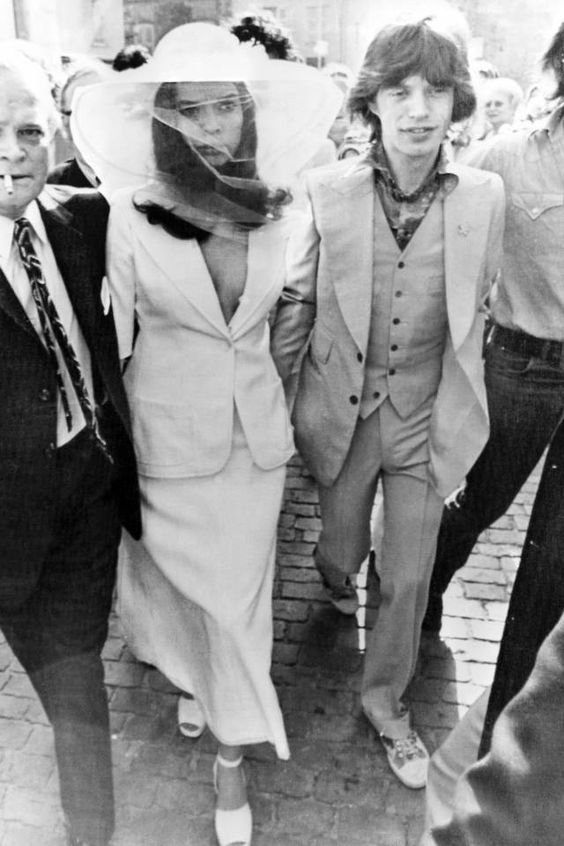 Mick Jagger and Bianca Jagger 70's wedding