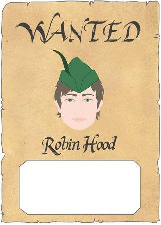 Robin Hood wanted poster | Undervisning Robin Hood ...