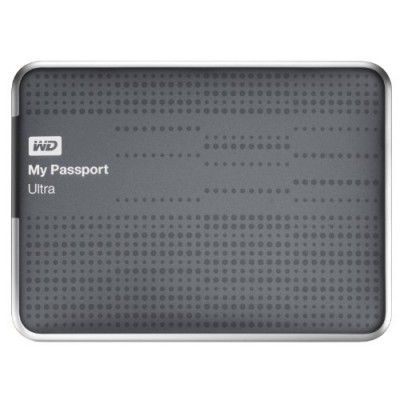 HD Externo WD My Passport Ultra 1TB Portable External Hard Drive USB 3.0 with Auto and Cloud Backup - Titanium (WDBZFP0010BTT-NESN) #HD Externo #Western Digital