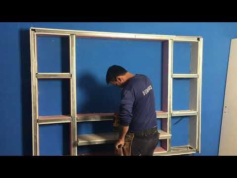 Mueble De Durlock Tv Rack Con Dicroicas Parte 2 Durlock Colocacion Youtube Muebles Con Durlock Muebles De Tablaroca Centros De Entretenimiento De Madera
