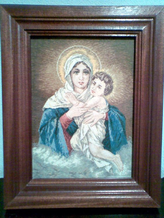 HANDMADE GOBELIN Beautiful Madonna Schonstatt Madonna by PolyJoy ...