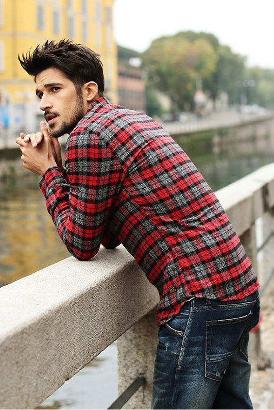 L&C's Plaid Button-Down Shirt. Men's Fashion. #MensFashion #Fashion…