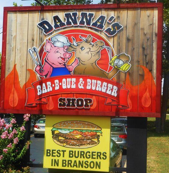 DANNA'S BBQ in Branson, MO has wonderful food! Branson, Missouri, Danna's BBQ, restaurants in Branson, travel, vacation www.recipesforourdailybread.com