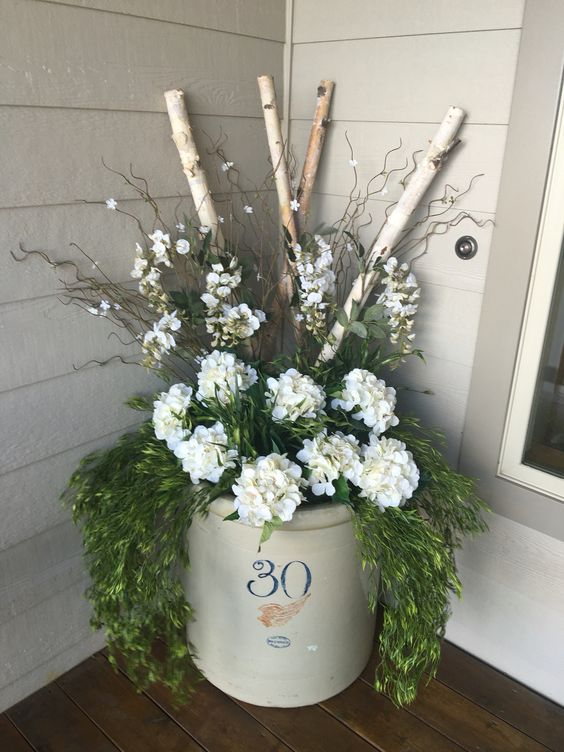 Red Wing Crock Front Porch Decor Spring Summer Our House