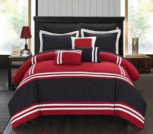 Queen 10-Piece Annabel Comforter Set in Red