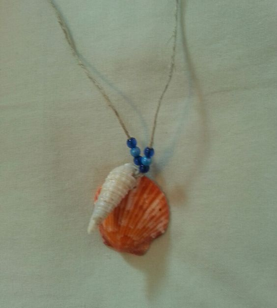 Seashell necklace. Both shells are from Sanibel, Florida.