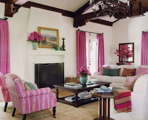 Never thought I'd love a pink living room--it has just the right amount.