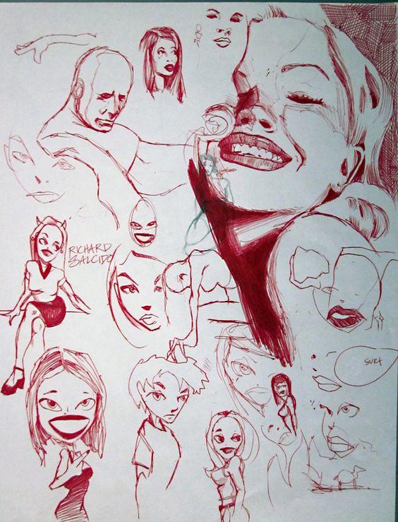 High school sketches. Richard Salcido.
