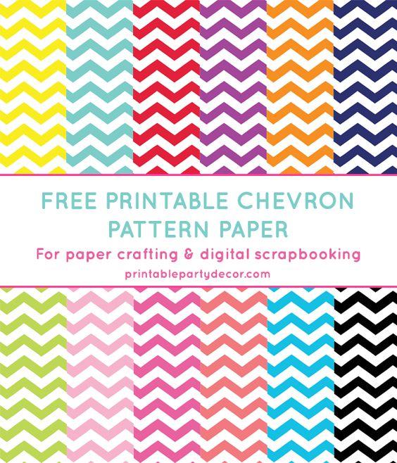 Chevron Digital Paper (in 12 Colors