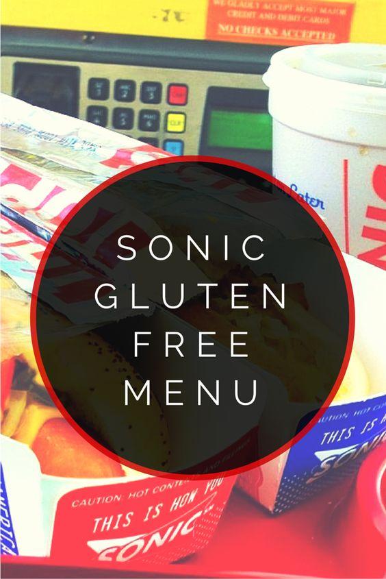 Sonic Gluten Free Menu #glutenfree.   FUN ... I kid eat like the other kids having a junk food moment :) hooray!