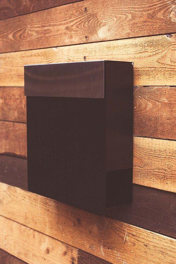 Moderne Postfach aus Edelstahl gefertigt. von Triumpho auf Etsy