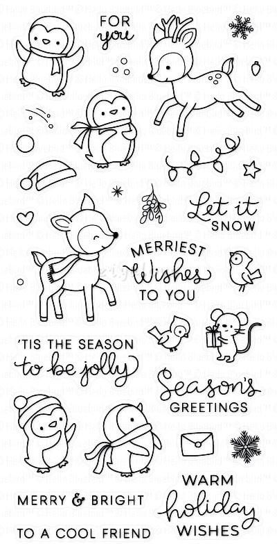 Snow play/penguin/Transparent Clear Stamps for DIY Scrapbooking