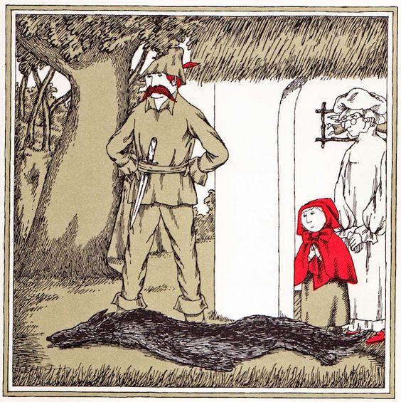 #EdwardGorey Red Riding Hood