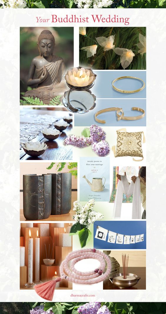 Inspired gifts, decor, and favors for the #Buddhist #wedding available at dharmacrafts.com