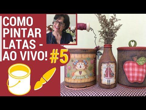 PINTANDO COM O ❤ AULA #5 COMO PINTAR LATAS TÉCNICA FERRUGEM TUTORIAL COM TÂNIA MARQUATO - YouTube
