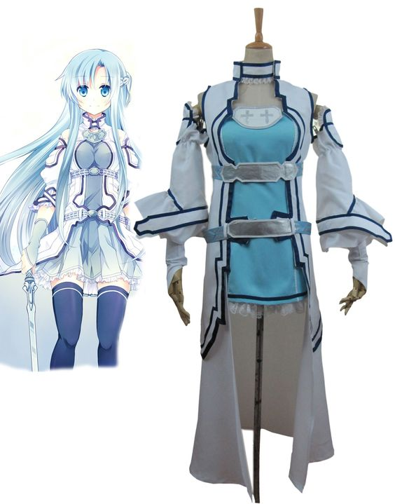 Günstige Freies verschiffen Schwert art Online ALO Alfheim Online Yuki Asuna Cosplay Kostüm, Kaufe Qualität Kleidung direkt vom China-Lieferanten:     frauen Größe