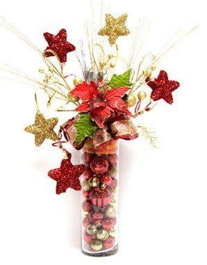 Arreglos con flores de navidad google search arreglos - Ideas para arreglos navidenos ...