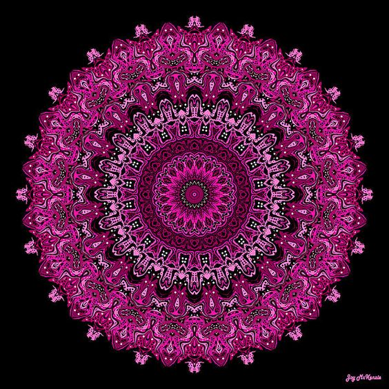 "Pink Passion No. 7 Mandala, by Joy McKenzie, prints available on Fine Art America in sizes up to 40"" x 40"""