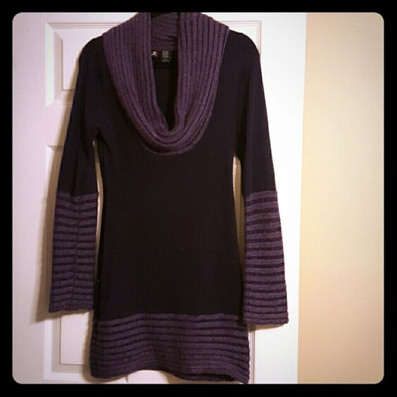 Sweater dress Purple, angora blend, soft, falls right above the knee. Dresses Mini
