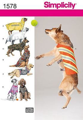 Simplicity Pattern 1578 Large Sized Dog Coats Clothes 7 Different Styles   eBay