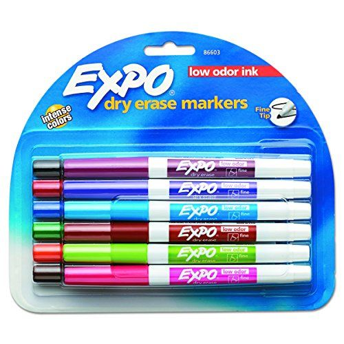 Expo 86603 Low Odor Dry Erase Marker Fine Point Assorte Https Www Amazon Com Dp B000j0b2yy Ref Cm Sw R Pi Dp X N Dry Erase Markers Dry Erase Expo Marker