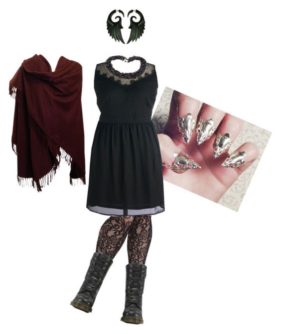 """Untitled #38"" by vic-mazonas ❤ liked on Polyvore featuring Dr. Martens and Loro Piana"