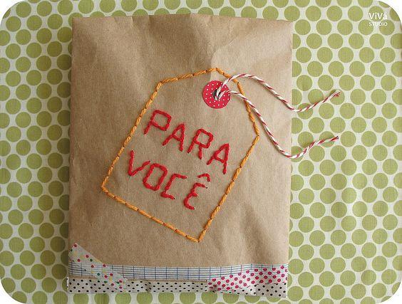 Package! Linda embalagem do ateliê Vivá!!
