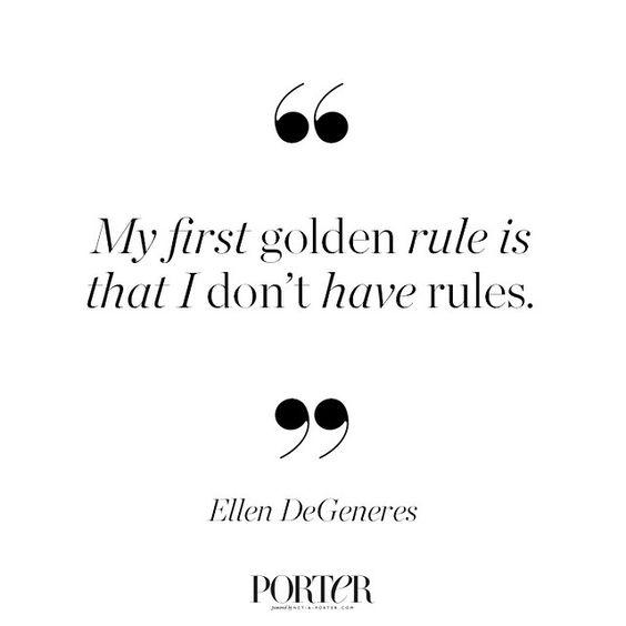 Always a maverick, Ellen DeGeneres shares her golden rules in #PORTERMagazine, including her lack of them… @theellenshow
