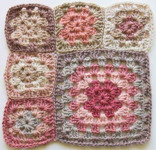 2012-08-16 Granny square blanket - unsatisfactory start: