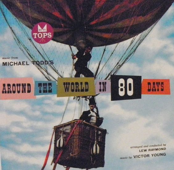 Around the World in 80 Days vintage album in cover