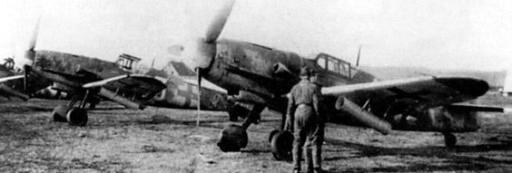 Armament of German fighters was constantly being upgraded throughout 1944 to counter the US day bomber threat: these are Bf 109Gs with underwing rocket launchers, which greatly reduced manoeuvrability: acceptable until the allies evolved a true long range escort fighter......