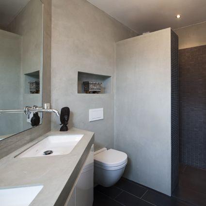 stuc afwerking badkamer: sydati stucwerk badkamer coating laatste, Badkamer