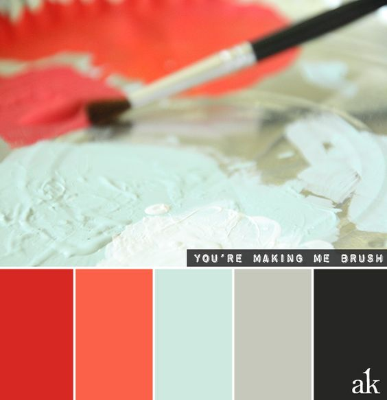Bedroom Interior Paint Bedroom Design Hipster Bedroom Wall Colors With Dark Brown Furniture Sophisticated Bedroom Color Schemes: A Paintbrush-inspired Color Palette // Red, Papaya, Blue