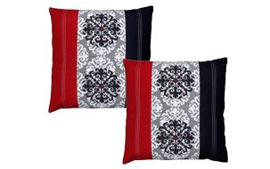 Color Block Cushion Cover(Set of 2)