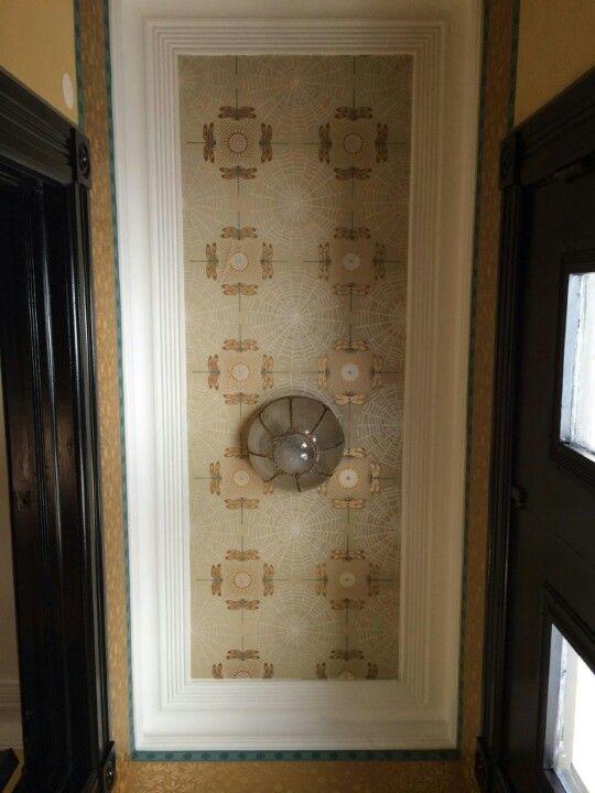 Vestibule ceiling complete, with fancy Bradbury & Bradbury wallpapers ...