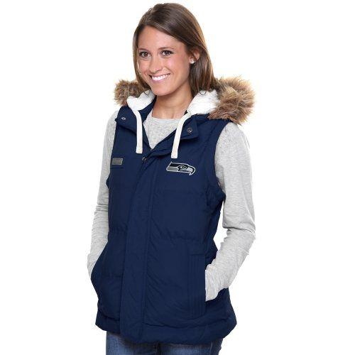 Pro Line Seattle Seahawks Womens Yukon Vale Full Zip Vest ...