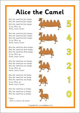 Alice the Camel song sheet (SB10661) - SparkleBox