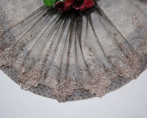 """8.5""""*1.5yards Embroidery Printing Leopard Tulle Lace Trim Sewing/Craft"""