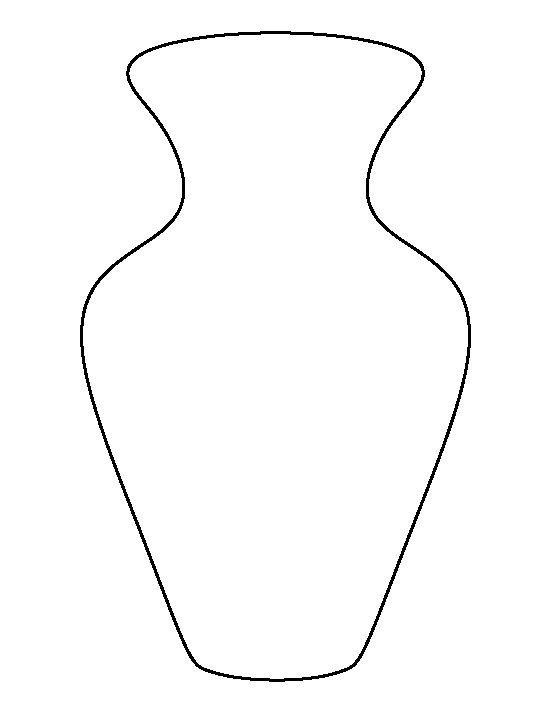 v is for vase coloring pages - photo #25