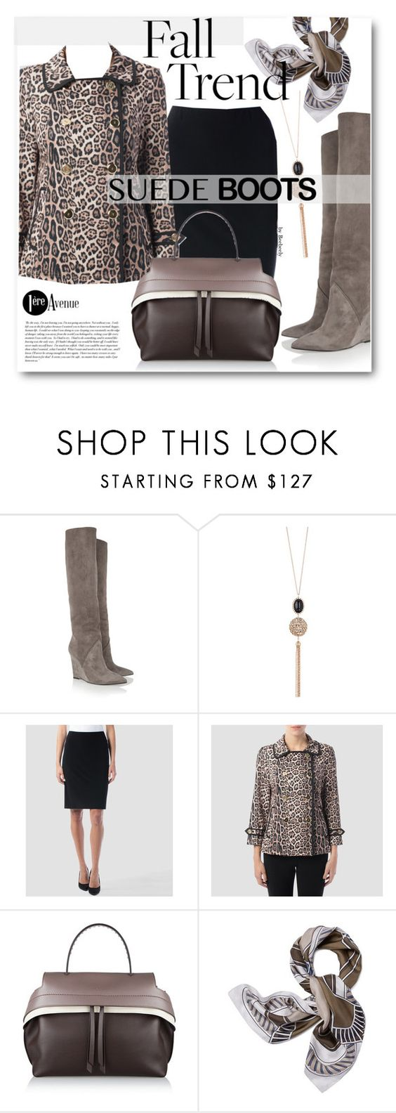 """""""Style Staple: Suede Boots"""" by beebeely-look ❤ liked on Polyvore featuring mode, Yves Saint Laurent, Swarovski, Joseph Ribkoff, Tod's, Cullen, Tory Burch, classy, StreetChic en suedeboots"""
