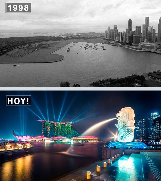 Singapur, República de Singapur un Antes y  Ahora. #DescubreUdever