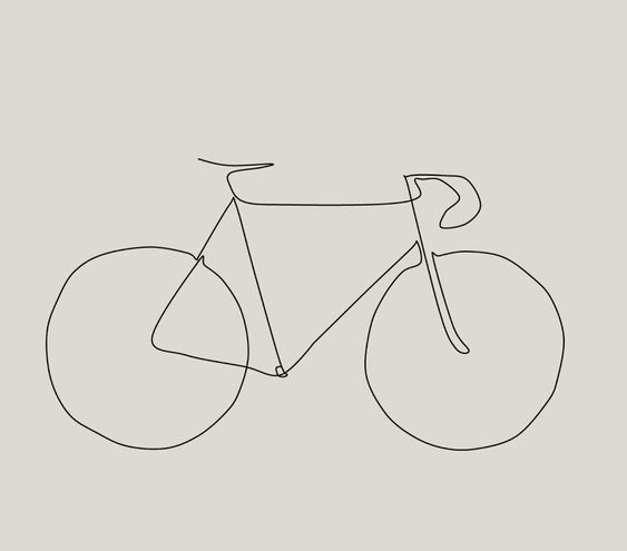 Picasso Inspired Bike Drawing - The Paceline Forum: