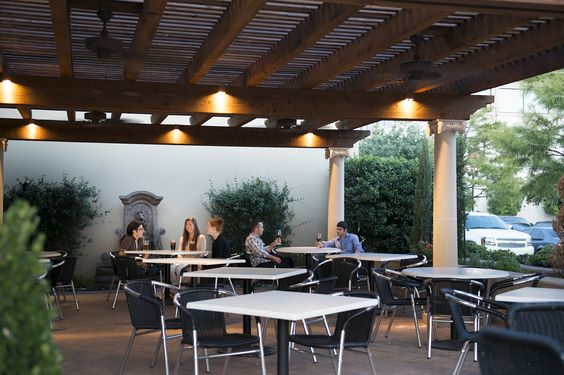 "Il Giardino. The garden. The perfect place for ""al fresco"" outdoor dining. One of our 2 patios available."