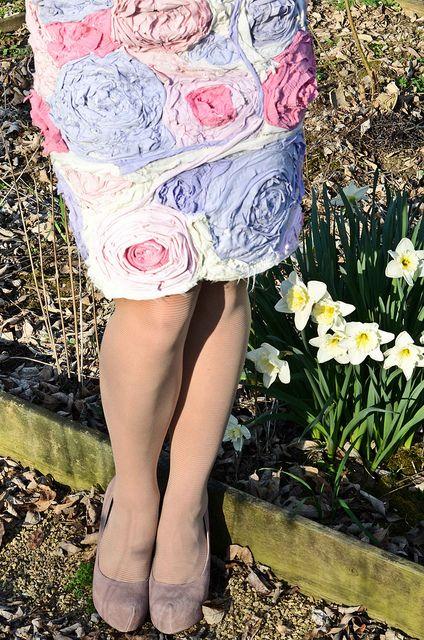 T-Shirt Flower Dress by Stacie Stacie Stacie, on her blog, stars for streetlights
