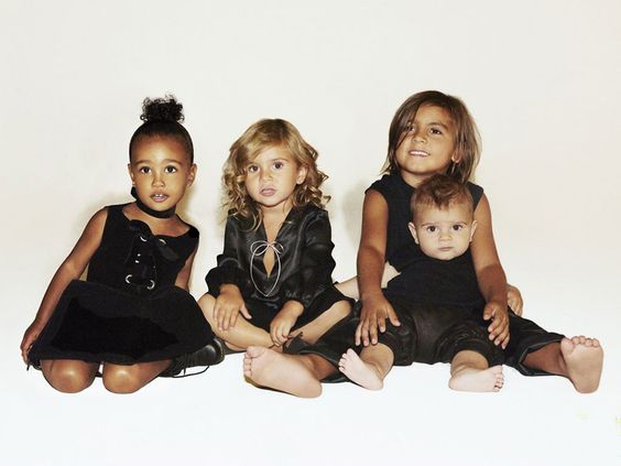North West, Mason Disick, Penelope Disick and Reign Disick Star in the 2015 Kardashian Christmas Card  Kardashian Christmas Card