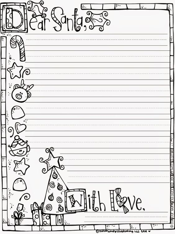 Letter to santa, Paper and Christmas on Pinterest